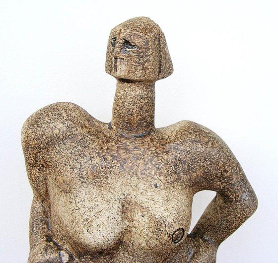 Norse Deity - Siegrune, a Valkyrie - Ceramic Sculpture
