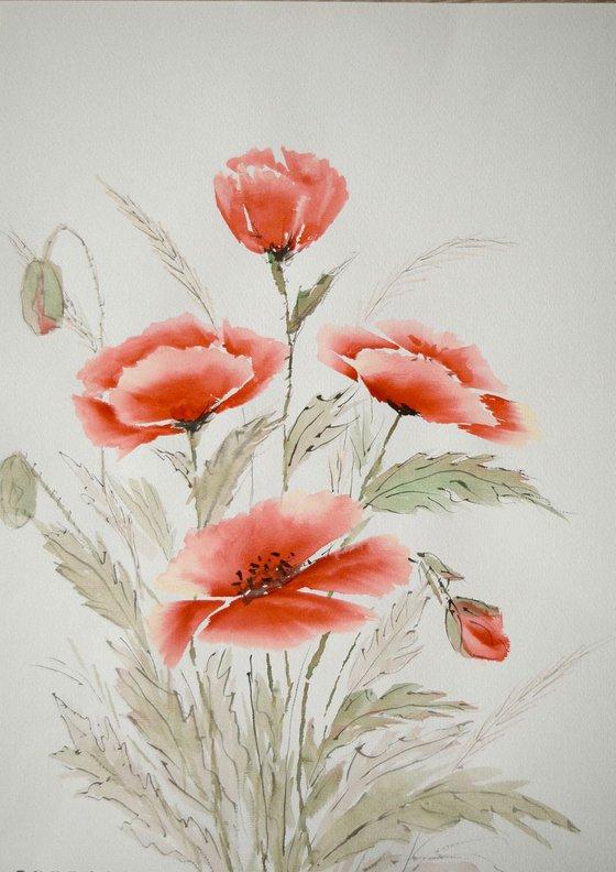 """Watercolour Flower's composition #2"" 41 х 29.5 (A3 size)"