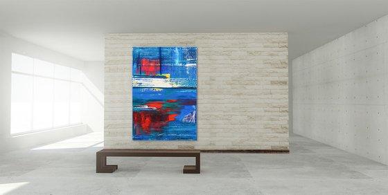 Rebound   160x110x4cm   Acrylic painting