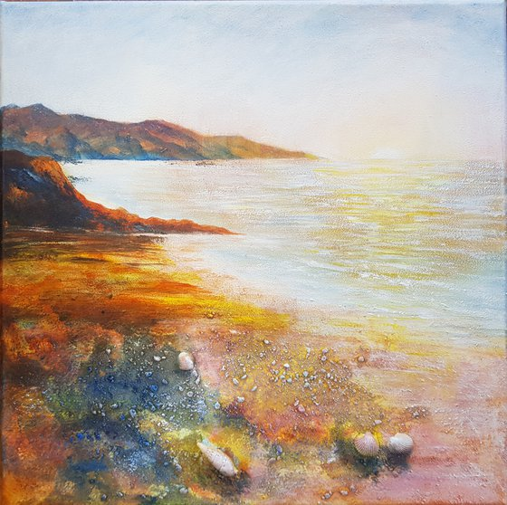 Evening Cove (textured seascape)