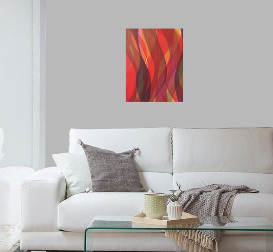 Abstract in orange red III
