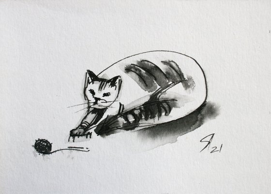 Cat VI... /  ORIGINAL PAINTING