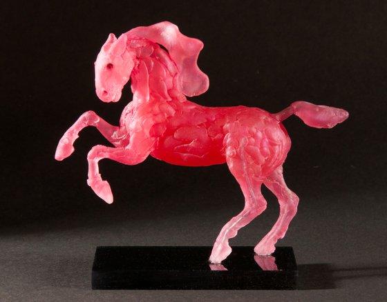 Running Horse - Strawberry Roan.