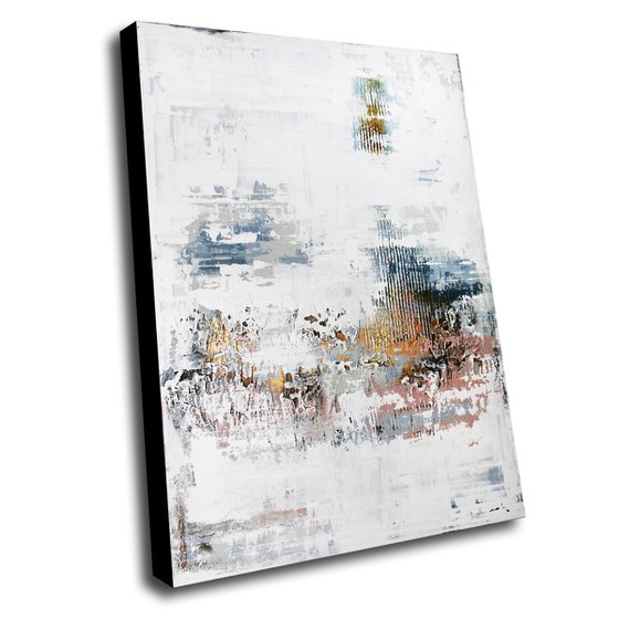 MER DE GLACE *** ABSTRACT ACRYLIC PAINTING ON CANVAS *** 120 x 80 cms