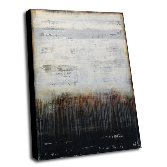 TRACES OF THE PAST - 110 X 80 CMS - ABSTRACT PAINTING TEXTURED * VINTAGE