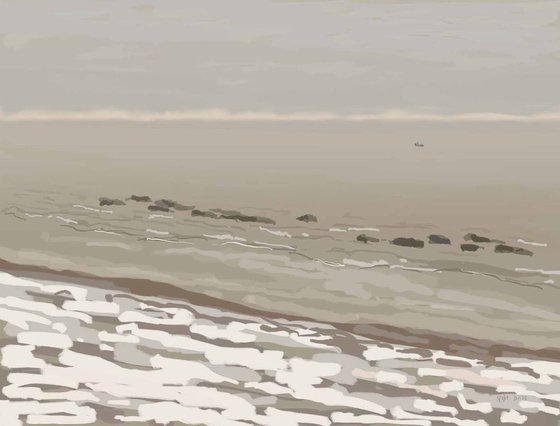 Snow on the beach, 5/2/18