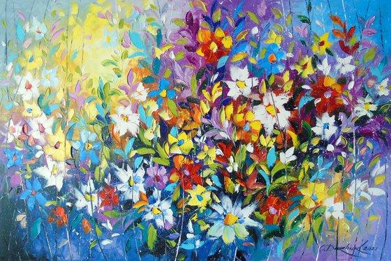 Tango of summer flowers