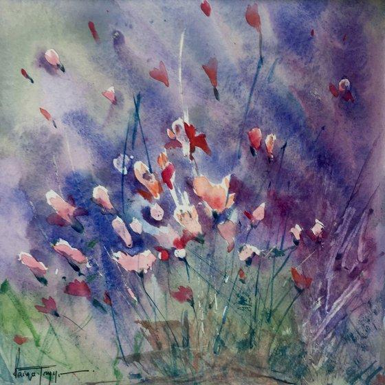 Wild flowers (Mini painting)