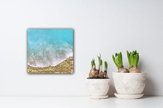 Teal Waves #41 Seascape Ocean Waves Painting