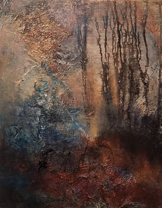 They Whisper, an original abstract painting by Redin Winter, 16in x 20in
