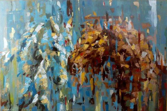 """""""Love"""", 90x60cm, ( 35.43""""x 23.62"""" ), acrylic on canvas"""