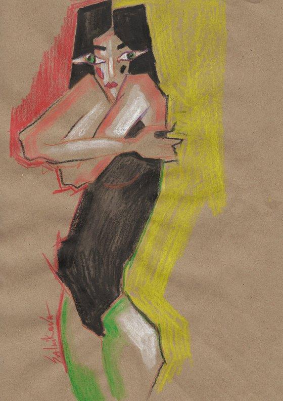 Fashion acril pencil set (set 12 artworks)