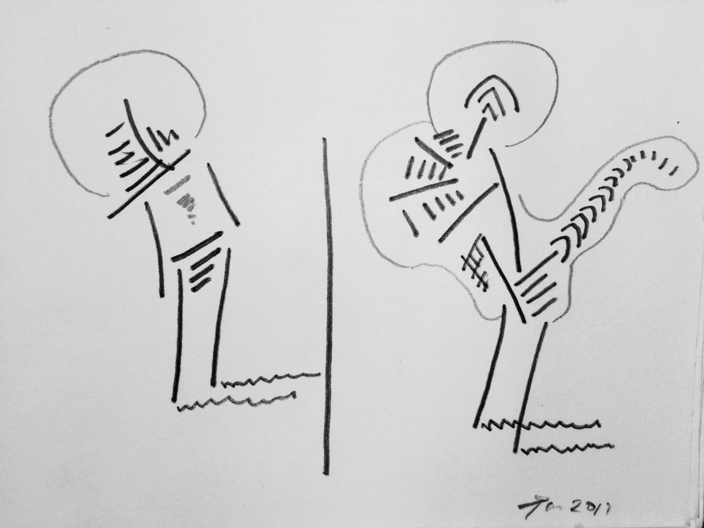 Zen solo 2017 pencil drawing