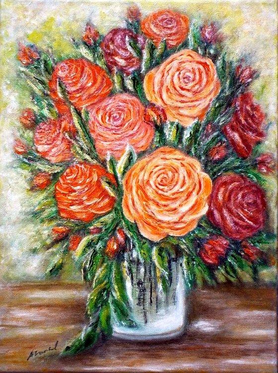 Rose in a vase..
