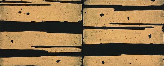 Untitled (black, pale gold), 2018