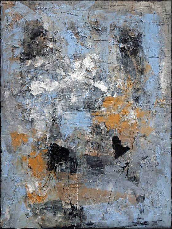 A170 (Contemporary abstract Spiritual Architecture Landscape Acrylic on canvas Large wall art Painting Series)