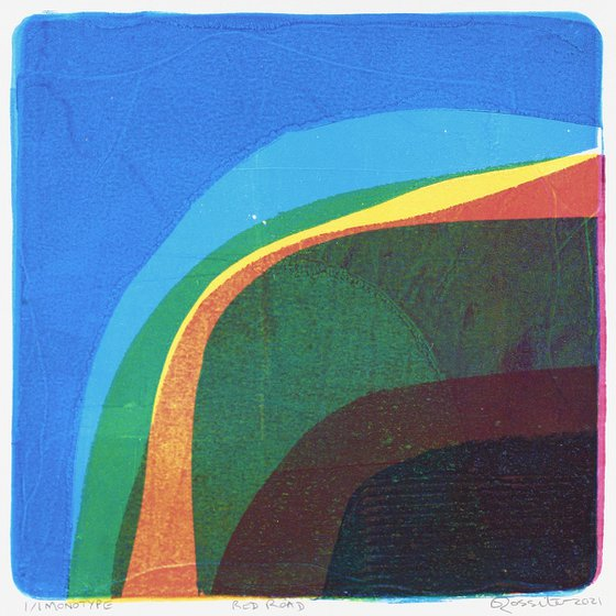 Red Road - Unmounted Signed Monotype