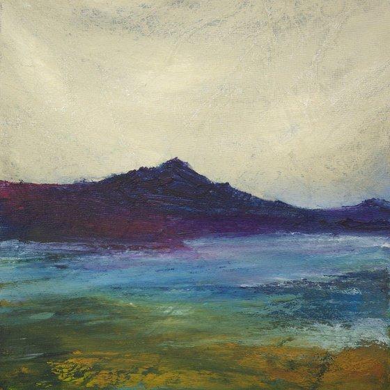 Purple mountain Scottish landscape
