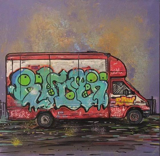 Graffitied Van 2