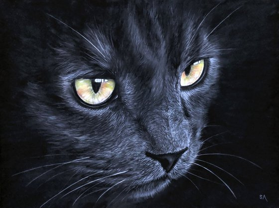 Cats Eyes IV  (Original Painting)