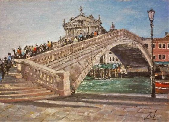 Venice. Bridge over the canal