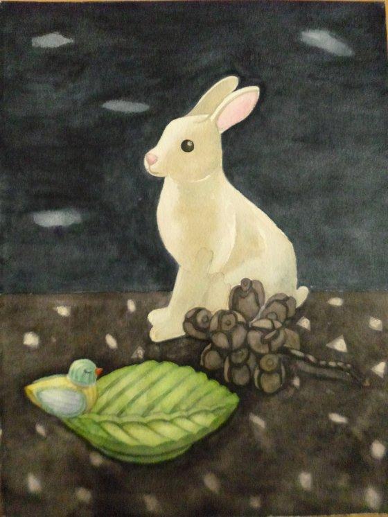 Still Life With Rabbit Ornament