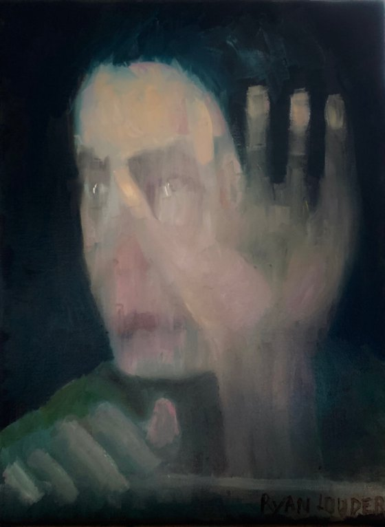 A Mother's Loss - Oil Painting - Woman