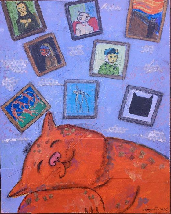 Dreams of a museum cat