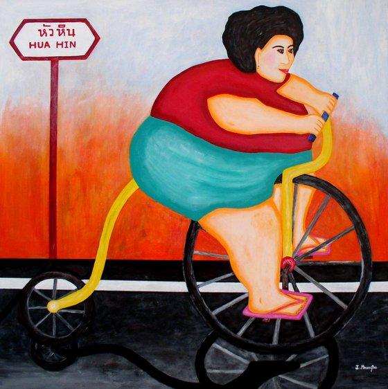 Big Cycle Lady