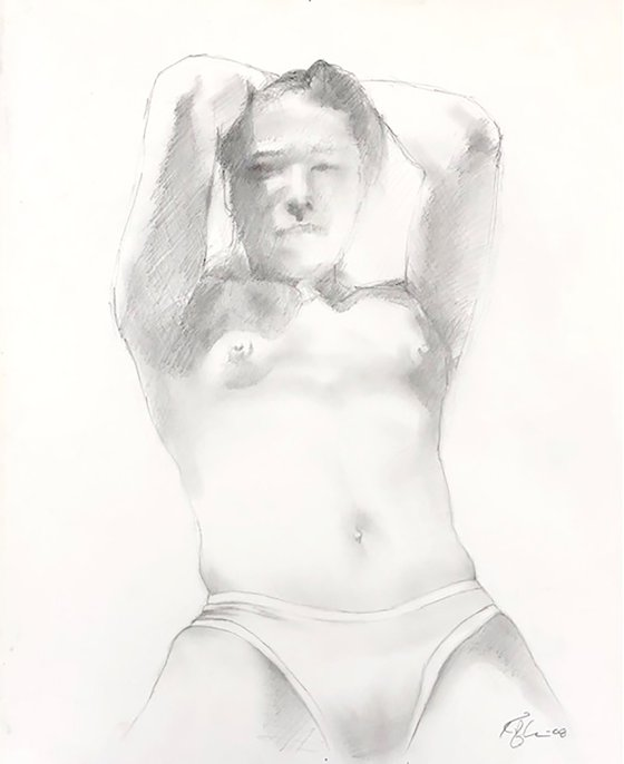 Untitled Nude (hands over head)