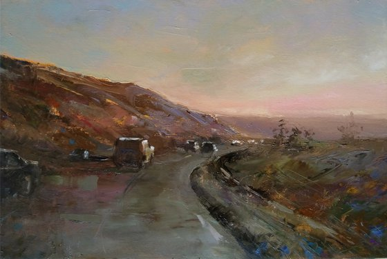 High way(34x50cm, oil painting, ready to hang)