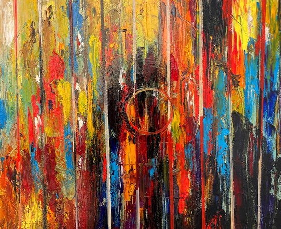 """Oil painting on canvas -  Emotions by Martiros Martirosyan - Original One-of-a-Kind Fine Art -  15.7"""" x 19.7"""" (40x50 cm)"""