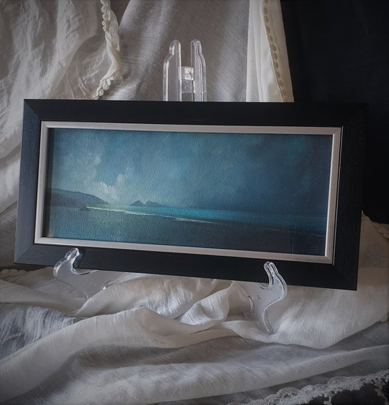 Moonstone Series - Holywell Bay, abstract seascape