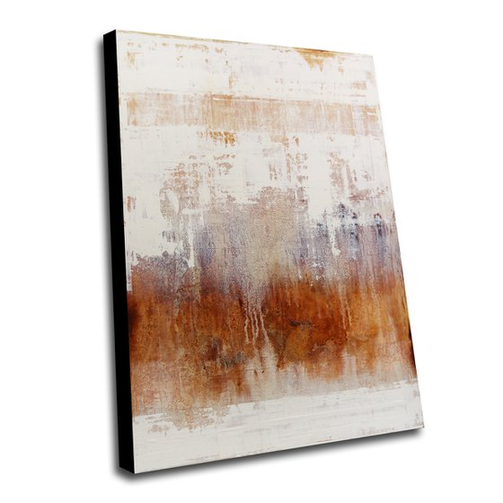 KALIMA - 110 X 80 CMS - ABSTRACT PAINTING TEXTURED * PASTEL COLORS