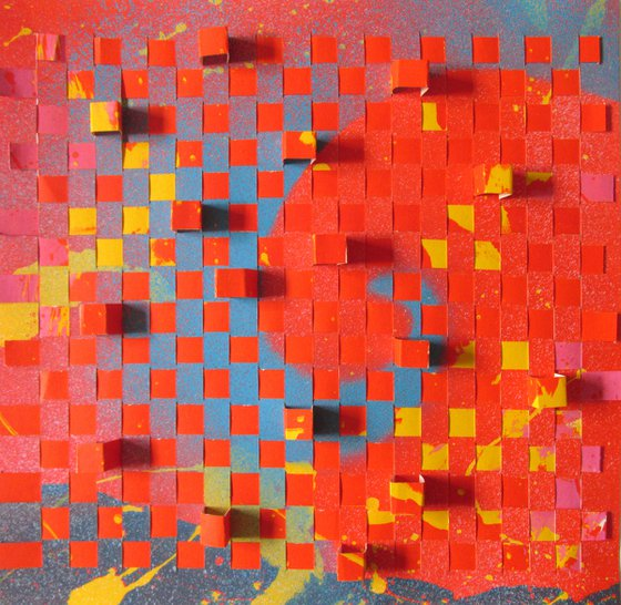 abstract paper weaving