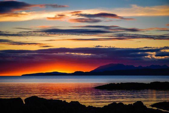 Sunset Over Skye  - A3 Limited Edition Print