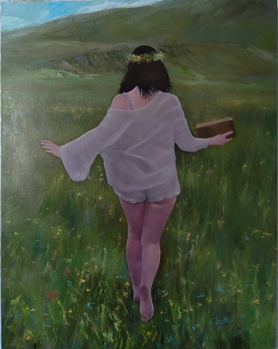 In freedom (55x70cm, oil canvas, ready to hang)
