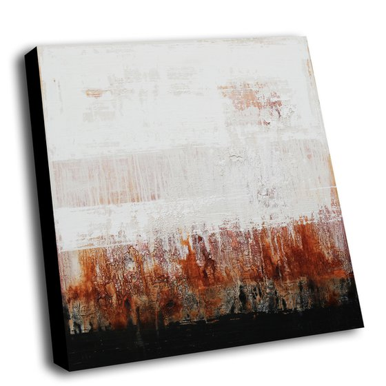 DUSTY ROAD - ABSTRACT ACRYLIC PAINTING ON CANVAS * SQUARE FORMAT