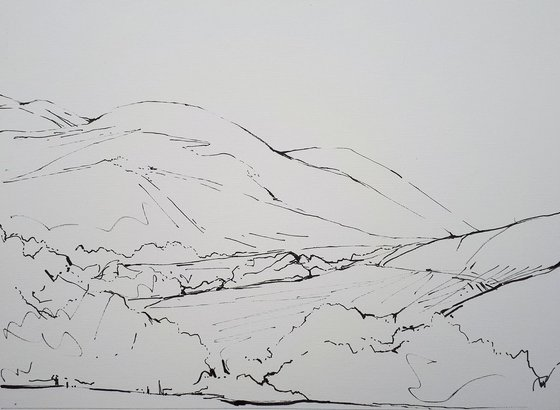 DIARY DRAWING  No. 3   Buttermere 04 09 18