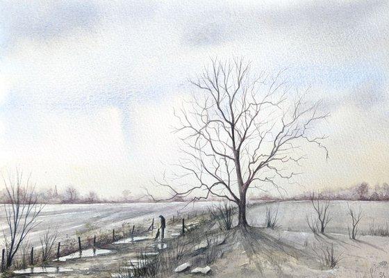 MORNING WALK (Original Watercolour Painting)