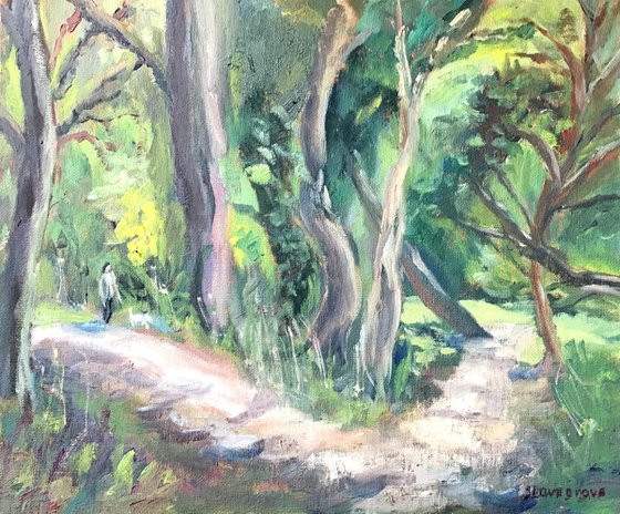 A Walk in the Woods An original oil painting
