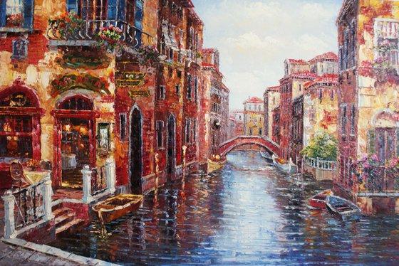"""Venice"". Canvas, oil. Size 90x60 cm"