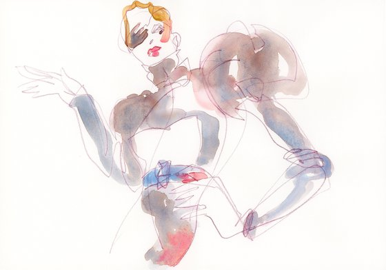 Mishi May Couture Fashion Sketch