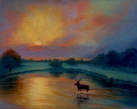 Sunset, Pens Pond, Richmond Park
