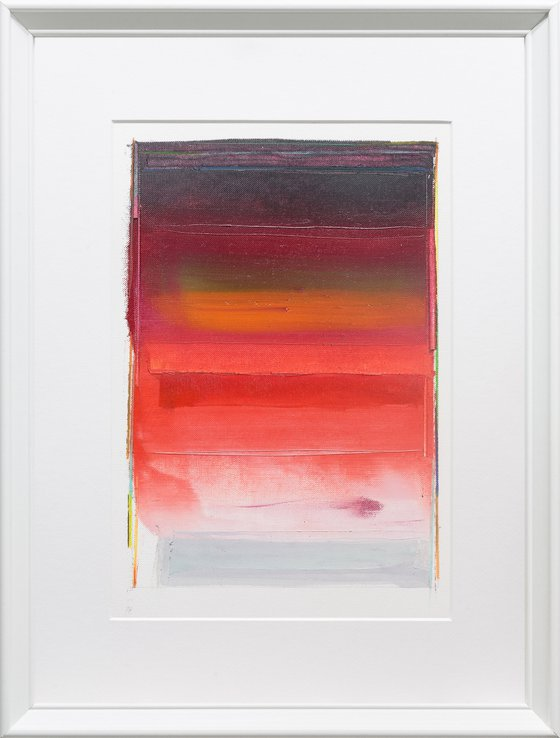 Modern Abstract Oil Painting, BREATHE- А#04, 30x40cm, Framed and Ready to Hang