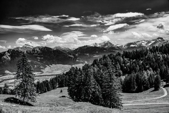 The Alps in Switzerland and the Rhone Valley