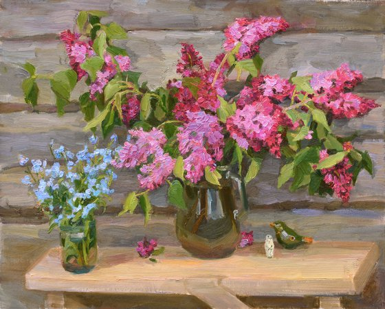 """""""Lilac and forget-me-nots"""""""