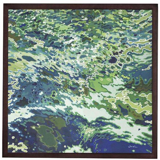 "Monterey Bay, 32 x 32 x 1.5"" framed"