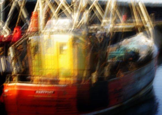 Maryport, impressionist nautical boat scene