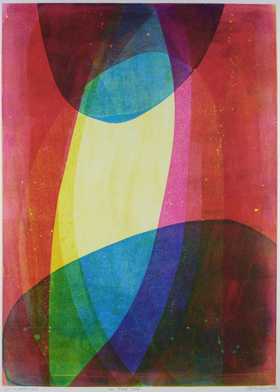 In the Mix - Unmounted Signed Monotype